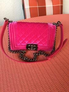 Sac Chanel Rose Velvet original