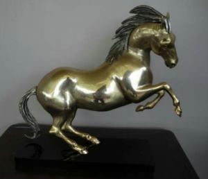cheval bronze doré anciet