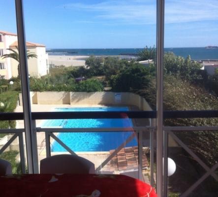 Appartement Cap d'Agde 1ère ligne mer