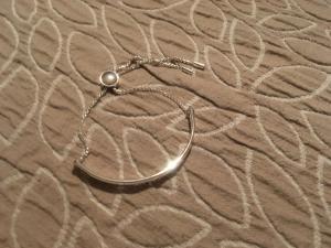 Bracelet argenté réglable