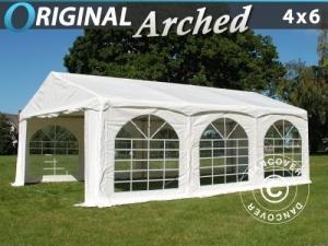 "Partyzelt Original 4x6m PVC, ""Arched"", Weiß"