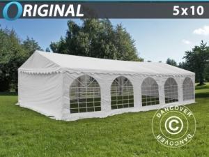 Partyzelt Original 5x10m PVC, Weiß
