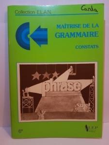 Maîtrise de la grammaire