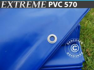 Plane 4x6m PVC 570 g/m² Blau