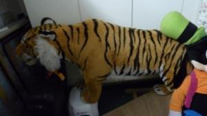 Magnifique peluche tigre taille reelle