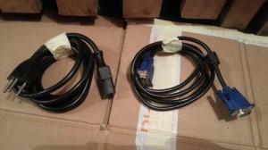 câble alimentation pc-   câble   vga  pc  pièces