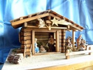 Crèche de Noël en bois