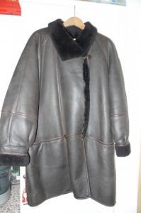 Manteau 3/4 en cuir pleine fleur Brun