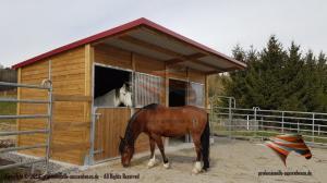 Aussenboxen, Pferdeställe, Pferdeboxen, Offenstall