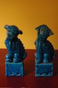 Paire de chiens Fu, protection Feng Shui