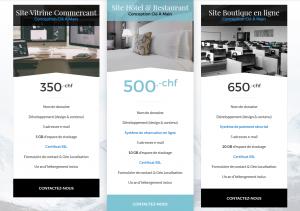 Recherche commercial pour site internet