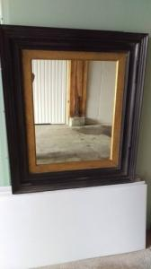 Ancien grand miroir restauré