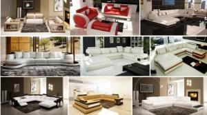 VIP Design Canapé moderne en cuir