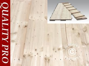 Partyzelt-Holzfußboden, 150x50x2,2cm, Kieferholz, 72