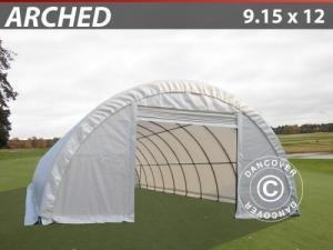 Lagerzelt 9,15x12x4,5m PVC, Weiß