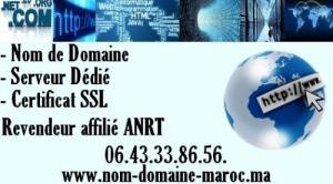 hebergement web maroc nom de domaine mar