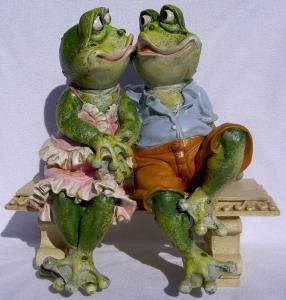 Grenouille de jardin - Les amoureux
