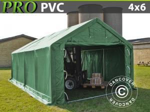 Lagerzelt PRO 4x6x2x3,1m, PVC, Grün