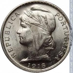 20 Centavos - 1916 Argent
