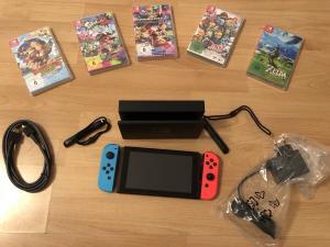 Nintendo Switch + Facture d'achat + Accessoires