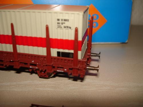 Roco HO 46306 wagon à rancher avec conteneur Schenker DB