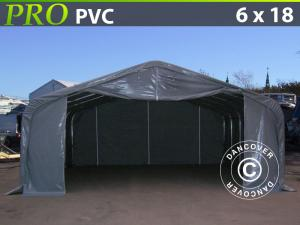 Lagerzelt PRO 6x18x3,7m PVC, Grau