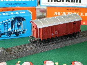 Marklin HO 4605 Wagon couvert avec cabine de frein K3 SBB