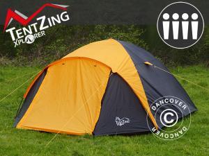 Campingzelt, TentZing® Igloo, 4 Personen, orange/dunke