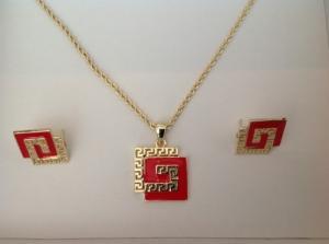 Jolies parures pendentif+ b.o plaqué or