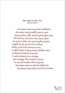 Des mots et des vies (poésie contemporai