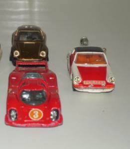 Corgi Toys & Solido - 3 voitures Porsche