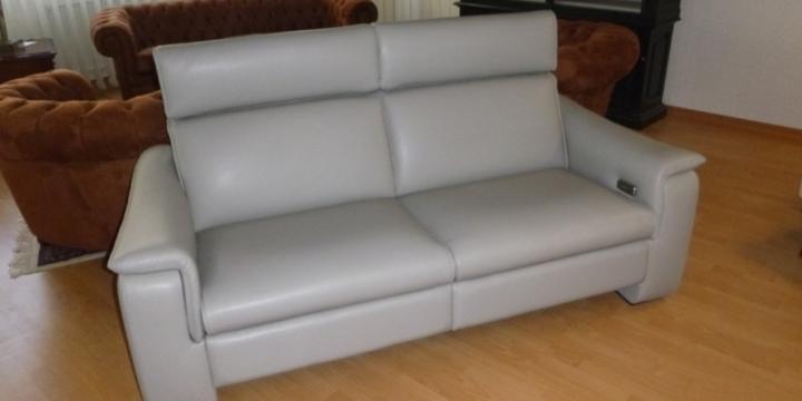 Canapé 3 places 2 relax électriques sans recul cuir
