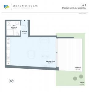 A vendre à Estavayer, appartement de 1.5 pièces, Portes du lac, lot 32