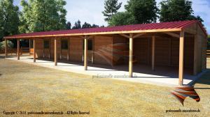Massivbau - Außenboxen für Pferde, Weidehütte