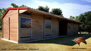 Aussenboxen für Pferde, Pferdeställe, Weidehütte