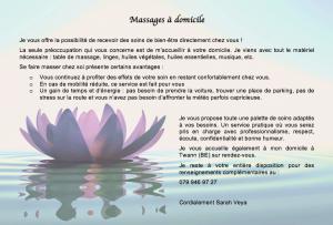Massages à domicile
