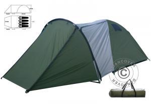 Campingzelt, 4 Personen, Grün/Grau
