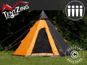 Campingzelt Teepee, TentZing®, 4 Personen, Orange/Du