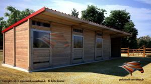Außenboxen Massivbau für Pferde 3x9m - 3. 690EUR