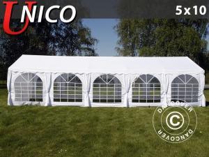Partyzelt UNICO 5x10m, Weiß