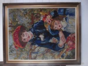 Tableau en tapisserie ancienne
