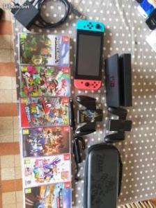 Nintendo switch +jeux +pochete