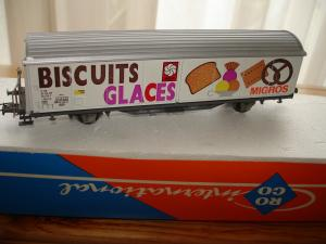Roco HO 4340H wagon Hbis-vxy Biscuits Glaces Migros
