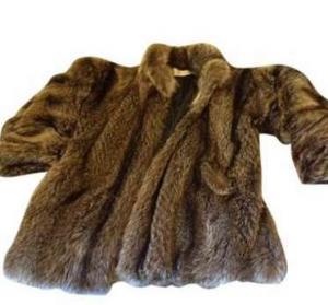veste en marmotte veritable