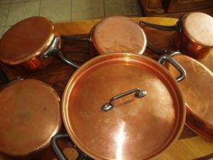casserole en cuivre massif