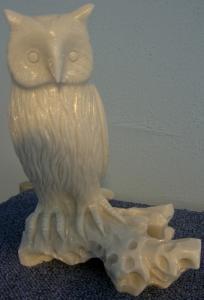 Sculpture de marbre - Hibou