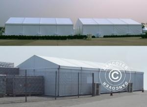 Zelthalle Lagerhalle Aluminium PRO 12x12m