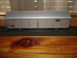 Roco HO 46173 wagon marchandise SBB Hbis gris argent CFF