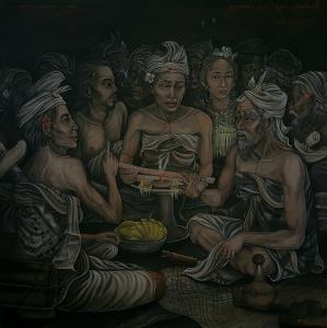 Tableau d'un artiste de Bali
