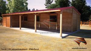 Pferde-Außenboxen, Offenstall-Weidehütten